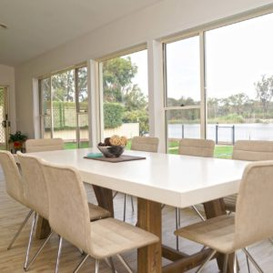 Bright - Numurkah new home open dining area