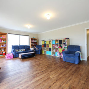 Family living areas by Numurkah builder